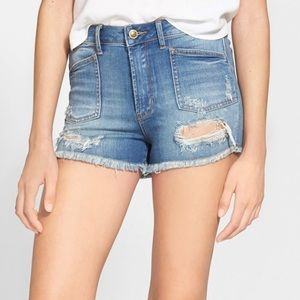 Articles of Society High Waist Distressed Shorts